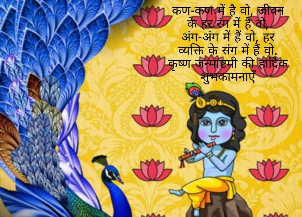 Kirsna janmastmi status in Hindi